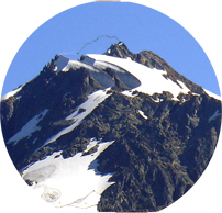 circular logo of mount baker